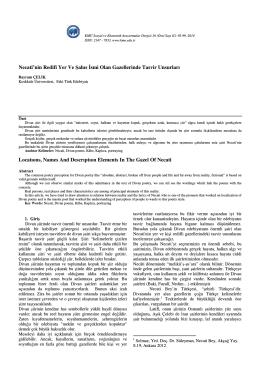 Bayram ÇELİK - KMÜ Sosyal ve Ekonomik Araştırmalar Dergisi