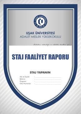 staj faaliyet raporu - Uşak Üniversitesi | Adalet Meslek Yüksekokulu