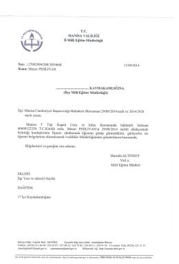 MANISAVALILlGI - Turgutlu İlçe Milli Eğitim Müdürlüğü