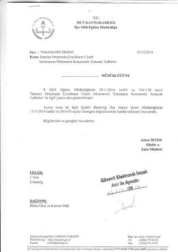 EKLERi - mut ilçe millî eğitim müdürlüğü
