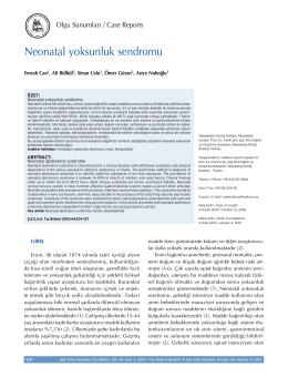Neonatal yoksunluk sendromu