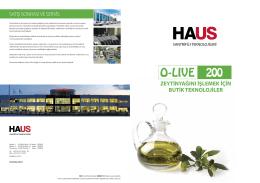 O-LIVE 200 - HAUS Santrifüj Teknolojileri