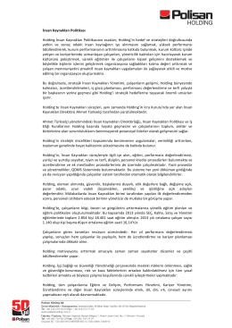 İK Politikası - Polisan Holding