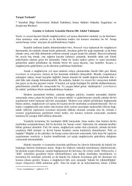 Turgut Tarhanlı* * İstanbul Bilgi Üniversitesi Hukuk