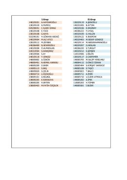 grup listesi