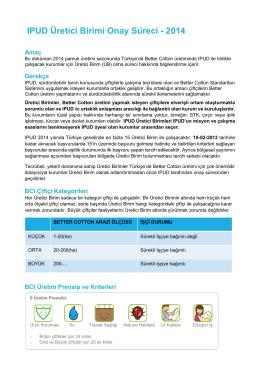 IPUD - Üretici Birim Onay Süreci