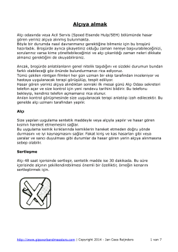 Alçıya almak - Gipsverbandmeesters