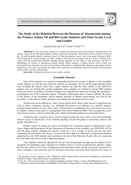 The Study of the Relation Between the Reasons of Absenteesim