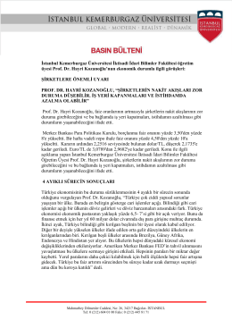 İstanbul Kemerburgaz Üniversitesi İktisadi İdari Bilimler Fakültesi
