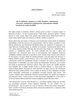 Ailede Samimiyet Dr. Elif Arslan Diyanet İşleri Uzmanı