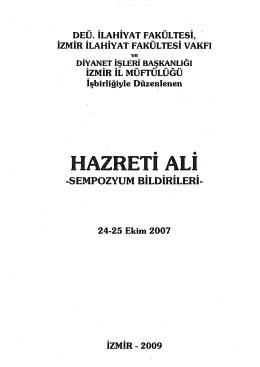 2. Hz. Ali ve Hz. Muhammed (s)