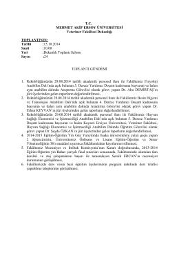 2014-24 nolu toplantı - Veteriner Fakültesi