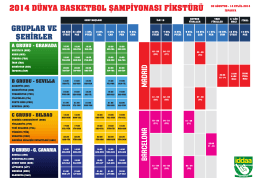 2014 dünya basketbol şampiyonası fikstürü