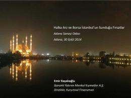 Ek 1 - Adana Sanayi Odası