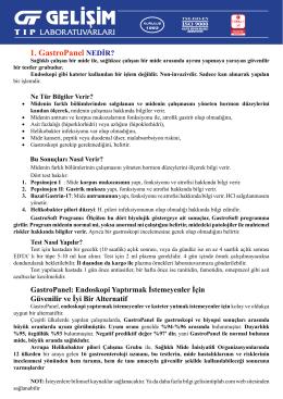 1. GastroPanel NEDİR?