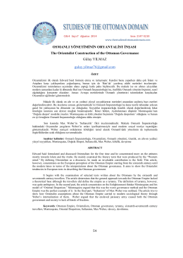 osmanlı yönetiminin oryantalist inşası