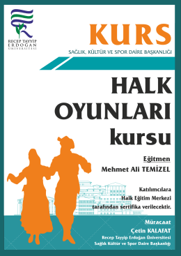 Eğitmen Mehmet Ali TEMİZEL - Recep Tayyip Erdoğan Üniversitesi
