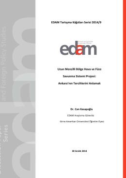 EDAM Tartışma Kâğıtları Serisi 2014/9 Uzun Menzilli Bölge Hava ve