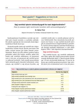 Nasıl yapalım? - Türk Kardiyoloji Derneği Arşivi