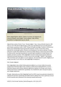 İklim değişikliğinin etkileri Türkiye kıyılarını da değiştirecek. Ama bu