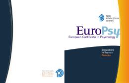 EuroPsy - Türk Psikologlar Derneği