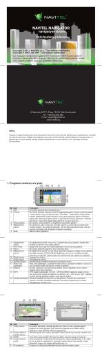NAVITEL NAVIGATOR navigasyon sistemi Hızlı başlangıç kılavuzu
