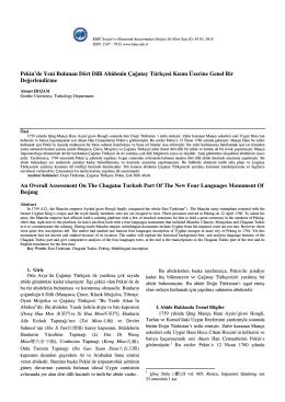 Ahmet HOJAM - KMÜ Sosyal ve Ekonomik Araştırmalar Dergisi