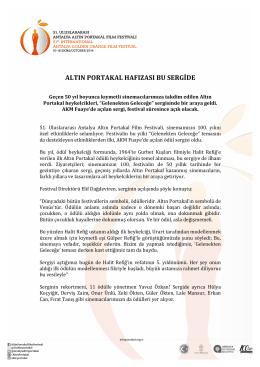 ALTIN PORTAKAL HAFIZASI BU SERGİDE