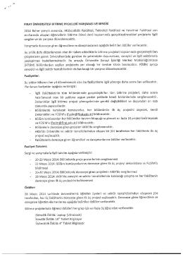 Fırat Üniversitesi Bitirme Projeleri Yarışması ve Sergisi