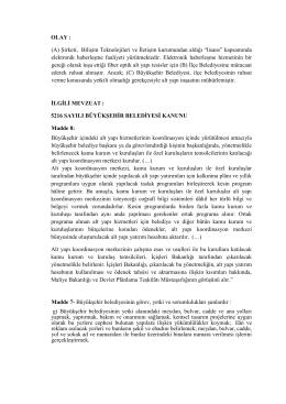 11.12.2014Tarihinde Çözülecek İdare Hukuku Pratik Çalışması II