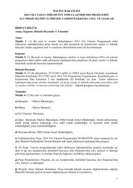 2014 yatırım programı tadat usul esaslar