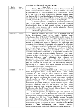 11/02/2014 Belediye Meclisinin 03/02/2014 tarih ve 49 sayılı kararı ile