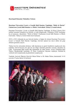 Hacettepeli Dansçılar Finlandiya Yolcusu Hacettepe Üniversitesi