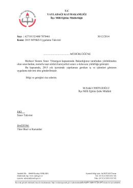 2015 MTSKS Uygula - yayladağı ilçe millî eğitim müdürlüğü