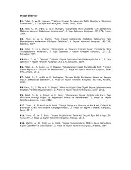 """Ulusal Bildiriler E1. Polat, G. ve U. Müngen, """"Yüklenici Đnşaat"""