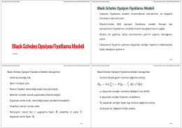 Black-Scholes Opsiyon Fiyatlama Modeli