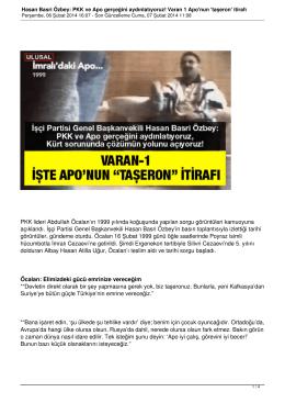 PKK ve APO Gercegini Aydinlatiyoruz