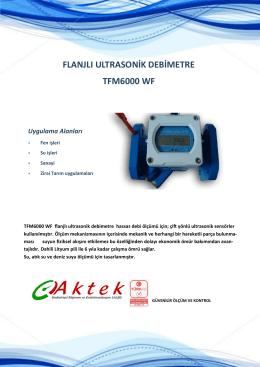 flanjlı ultrasonik debimetre tfm6000 wf