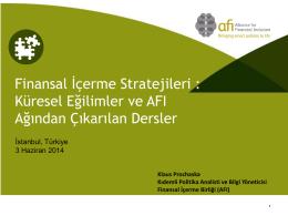 Finansal İçerme Stratejileri : Küresel Eğilimler ve AFI