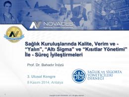 Prof. Dr. Bahadır İnözü