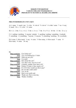 mersin üniversitesi yabancı diller yüksekokulu program ve materyal
