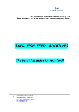 SAFA FISH FEED ADDITIVES