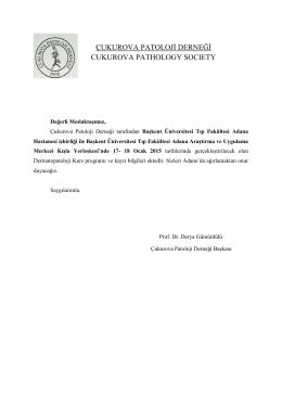 Çukurova Patoloji Derneği tarafından Başkent Üniversitesi Tıp