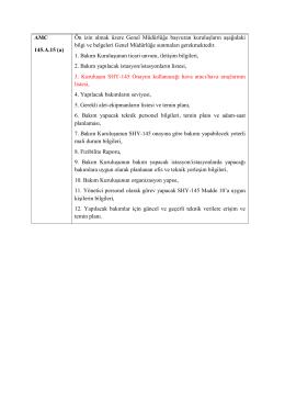 AMC 145.A.15 (a) Ön izin almak üzere Genel Müdürlüğe başvuran