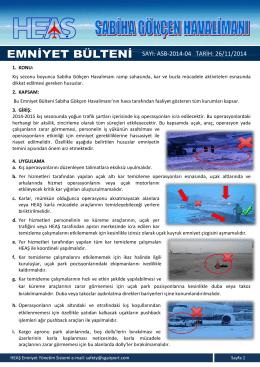 ASB-2014-04 (Kış Operasyonları) dökümanını PDF olarak indir.