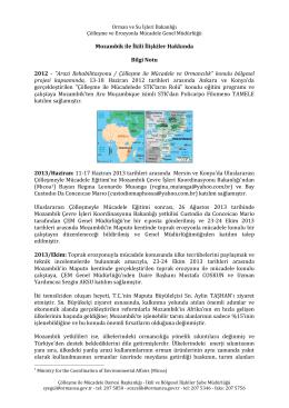 BilgiNotu - Çölleşme ve Erozyonla Mücadele Genel Müdürlüğü