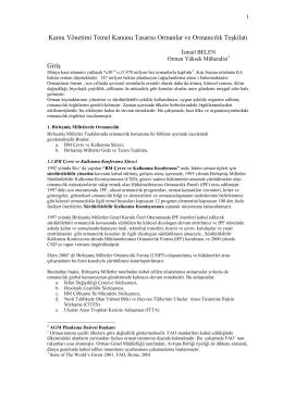 2004-Dünyada Orman Teşkilatları ve Türkiye İçin Öneriler