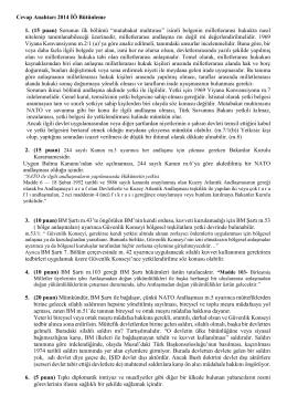 II. Öğretim Cevaplar