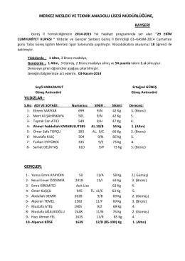 29 ekim cumhuriyet kupası - Kayseri Teknik ve Endüstri Meslek Lisesi