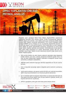 opec toplantısı öncesi petrol analizi opec toplantısı öncesi petrol